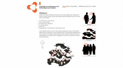 Screenshot of the final website of mijnpassendezorg.nl